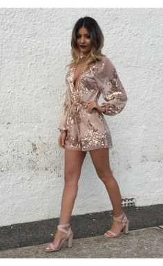 In My Dreams Romper Rose Gold - Playsuits - Clothing