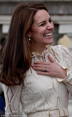 The duchess smiled and laughed as she enjoyed the fun-filled event...