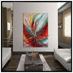 Déborde de Passion Peinture abstraite originale par largeartwork