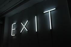 the exit .. the direction you should be heading