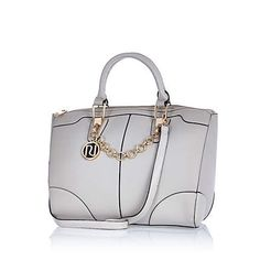need this! Grey chain trim bowler bag $74.00