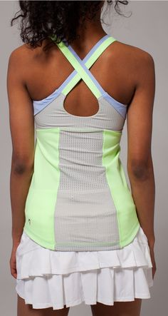 back mesh panels keep you cool while you serve up match point. | Rally Point Tank