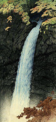 "Japanese Art Print ""Keegon Waterfalls, Nikko"" by Kawase Hasui. Shin Hanga and Art Reproductions http://www.amazon.com/dp/B01DHDJO7Q/ref=cm_sw_r_pi_dp_x-4dxb0PV6MK6"