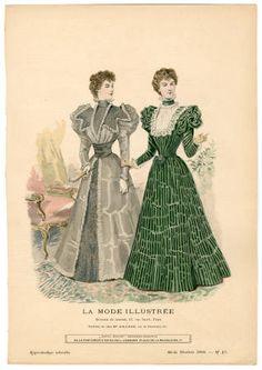 1895-1898, Plate 115 :: Costume Institute Fashion Plates