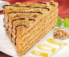 Recipe- Marlenka Tarifi For those who want to try a different cake recipe, we recommend the marlenka recipe. Cake proves its taste and appearance with its ingredients . East Dessert Recipes, Bakery Recipes, Pasta Cake, Caramel Treats, Rainbow Treats, Different Cakes, Mets, Cheesecake Recipes, Good Food