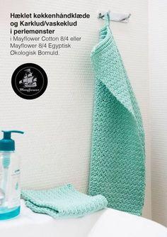 <p>Hækl flotte karklude og køkkenhåndklæder i matchene mønster med denne lækre opskrift. Det smukke perlemønster giver vaskekludene et smukt og