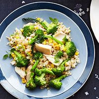 Ginger, Chicken and Broccoli with Bulgur