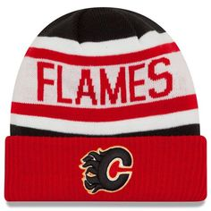Men's Calgary Flames New Era Red Biggest Fan Redux Cuffed Knit Hat, Your Price: $22.99