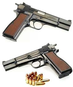 Browning 1911 - if this is 9 mm, most liked by people with smaller hands, fit like a glove, and you rarely miss your target.