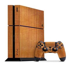 Customize your #ps4 with this terrific Teak Wood Slickwrap available now at www.slickwraps.com