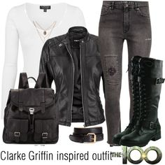 Clarke Griffin inspired outfit/The100 by tvdsarahmichele on Polyvore featuring Topshop, maurices, H&M and Proenza Schouler