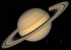 The planet Saturn and its rings