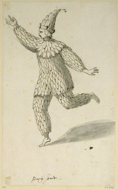 "The play calls Ariel an ""airy spirit."" The picture depicts a costume design for ""airy spirit"" (by Inigo Jones), which would have been used in a masque."