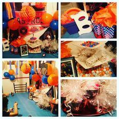Houston Astros Party Decor Baseball Birthday Party, 6th Birthday Parties, 4th Birthday, Birthday Ideas, Party Themes, Party Ideas, Gift Ideas, Tango Blast, First Communion