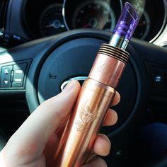 New Cartel Copper Mod  #handcheck #vape #vapecommunity #vapers #ecigs #ecigmods #girlsthatvape #coppermod #atty #atomizer #ejuice #dripporn #vapeporn #Padgram