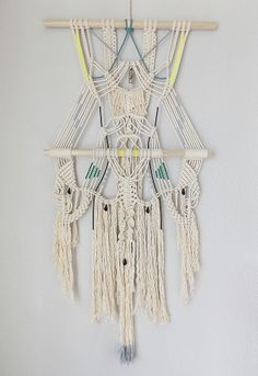 """Modern Macramé """"The River no.3"""" by May Sterchi :HIMO ART for URBANOUTFITTERS:"""