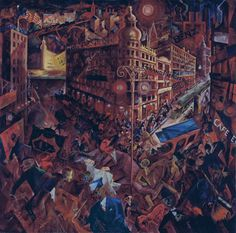 Visto 19/11/13 George Grosz Metrópolis 1916-1917 Óleo sobre lienzo 100 x 102 cm Museo Thyssen-Bornemisza, Madrid