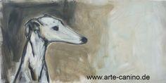 Spanish Greyhound (Galgo), Acrylic on canvas, 40 x 80 cm