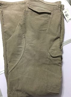 Gray By Saks Fifth Avenue Mens 38 Cargo Corduroy 6 Pocket Pants Saddle Seat Sand #GraybySaks #Corduroys #sakscorduroys #menscordsbysaksfifthavenue