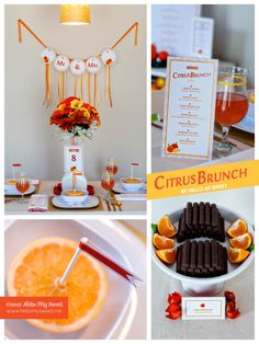 Gorgeous orange and yellow citrus summer party on a budget idea with tons of great recipes, DIY projects and inspiration! Citrus Printable Party Set By @Rebecca Kahler My Sweet  | www.hellomysweet.me