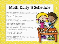 School Is a Happy Place: Math Daily 3, How We Started