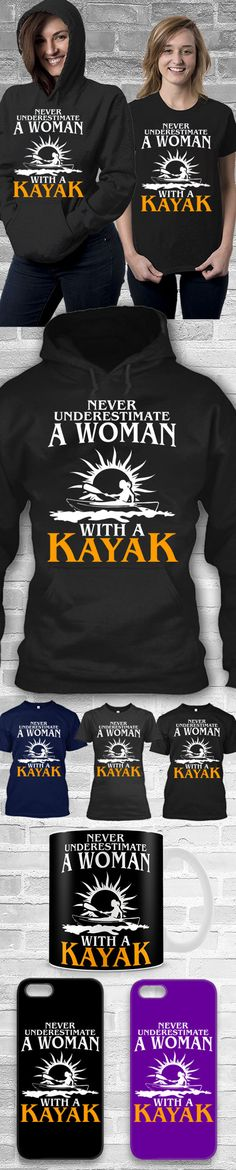 Woman With Kayak Shirts! Click The Image To Buy It Now or Tag Someone You Want To Buy This For. #kayak