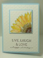 Sunflower card, but could use any flower or maybe even hello doily