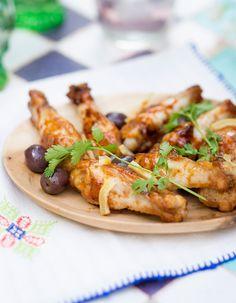 Manchons de poulet olives-citron-coriandre pour 6 personnes - Recettes Elle à Table
