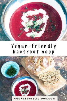 With a vibrant colour and a deep flavour, this beetroot soup is filling and satisfying. Inspired by borscht, this soup is suitable for vegetarians and vegans. #beetrootsoup #borscht #vegansoup #souprecipes #vegan Vegetarian Potato Recipes, Vegetarian Meals For Kids, Kids Meals, Baby Food Recipes, Soup Recipes, Kid Recipes, Beetroot Soup, Baby First Foods, Borscht