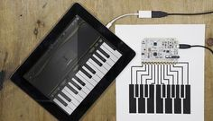 Play more than one sound at a time with the Touch Board set up as a MIDI interface, send MIDI note data to programs like Garage Band and Ableton Live. Arduino Laser, Arduino Cnc, Arduino Programming, Linux, Diy Electronics, Electronics Projects, Microcontroller Board, Arduino Beginner, Plant Watering System