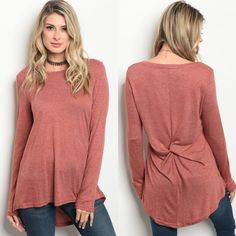 Only a few left!!    Brick jersey knit top. Gathered back. So soft!! Can be worn with leggings. Fall closet staple.     Small fits 4/6.   Medium fits 8/10.   Large fits 12/14.         FREE US Shipping!!🍁 | Shop this product here: http://spreesy.com/theglamshackboutique/828 | Shop all of our products at http://spreesy.com/theglamshackboutique    | Pinterest selling powered by Spreesy.com