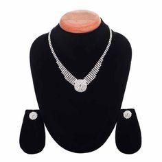 Aaishwarya Fascinating Crystal Necklace Set #necklaceset #partynecklace #crystalnecklace