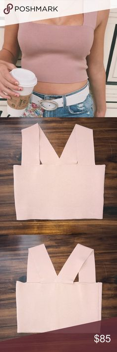 LF SEEK The Label Square Neck Crop Top Lf seek the label bandage crop top from Spring 2017. Size medium in a blush pink like color. Fit me and I'm a small I think it's fine for s-m.  I love this and wanted the crop so bad but it's blending with my skin because it's a bit darker than the bodysuit and that just bugs me. I'm still a bit iffy because of how hard it was for me to get this color but the price can be semi negotiated l very little wiggle room LF Tops Crop Tops