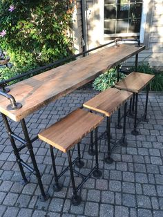 There comes a time in every adult's life when a bar cart just won't do anymore. In which case, it might be time to upgrade to a bar cabinet. Outdoor Bar Stools, Wood Bar Stools, Outdoor Decor, Outdoor Living, Patio Bar, Outside Bar Stools, Outdoor Wood Bar, Outdoor Barbeque, Outdoor Bars