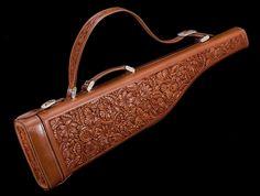 Tooled gun case.-SR