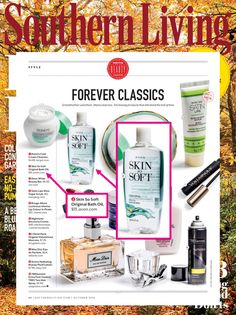 Avon Skin So Soft was featured in October's @southernliving as a classic product!