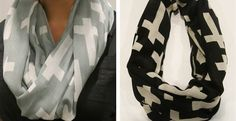 QUICK SHIP! All Over Cross Infinity Scarf