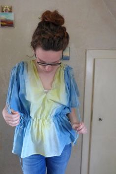 ein selbstgefärbtes Shirt-luftig, sommerlich und selbst gemacht! von EmmyLou http://de.dawanda.com/shop/emmylou