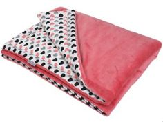 BLANKET 75x100 WITH FILLING - HEARTS AND CORAL MINKY Baby Gift Sets, New Baby Gifts, Teepee Tent, Baby Christmas Gifts, Full Face Mask, Kid Beds, Happy Shopping, New Baby Products, Toddler Bed