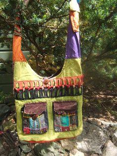Vintage Hobo sling cross body hippie bag by jenuineserendipity, $49.00