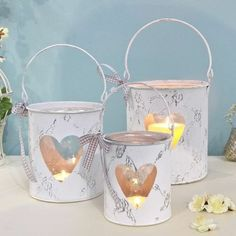 Lisa Angel, Barware, Candle Holders, Shabby, Baby Shower, Shower Inspiration, Candles, Hearts, Gifts