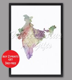 India Map Print Pastel Colorful Watercolor Map India Art Print Pastel Wall Decor Travel Art Map Living Room Wall Decor Pastel Art Print Pastel Walls, Pastel Art, Map Wall Art, Map Art, Water Color World Map, India Map, Watercolor Map, Room Wall Decor, Living Room Art