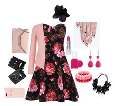 """""""Black and Pink Love"""" by sparklemaster ❤ liked on Polyvore"""