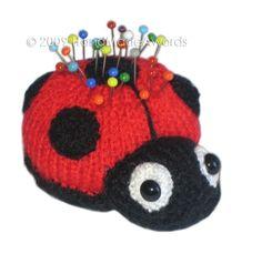 LADYBUG PINCUSHION Pdf Email Knit PATTERN by HandMadeAwards, $2.00