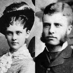 Alice and Theodore Roosevelt: his first wife, she died just days after giving birth to her daughter, Alice.