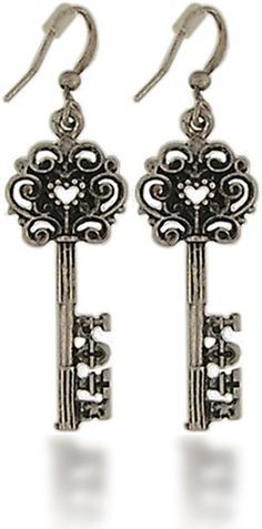 Antique Skeleton Key Dangle Vintage  by Lavishy Earrings by Stylephyle,