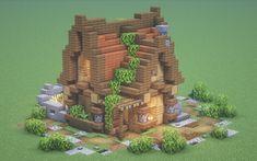 Minecraft Bauwerke, Minecraft Shops, Cute Minecraft Houses, Minecraft Houses Survival, Minecraft House Designs, Minecraft Construction, Minecraft Tutorial, Minecraft Blueprints, Minecraft Crafts