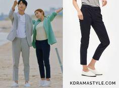 "Yoon So Ah's Navy Pants - 8 Seconds 2017 SS Navy Basic Slim Slacks. Shin Se Kyung 신세경 as Yoon So Ah 소아 in ""Bride of the Water God 2017"" Episode 4."