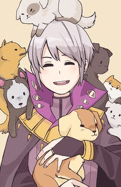 Henry loves puppies! It's canon (see: Olivia & Henry support convo). Character from Fire Emblem: Awakening.  Poster is 11x17 inches and printed on Matte paper. Full-bleed. The illustration is by Ca7ch (http://ca7ch.tumblr.com/).  If you want the poster signed, please indicate it on the checko...