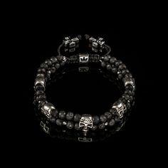 Brățară Skulls – Double Trouble 5 in a Row Double Trouble, The Row, Skull, Diamond, Bracelets, Collection, Jewelry, Silver, Jewlery